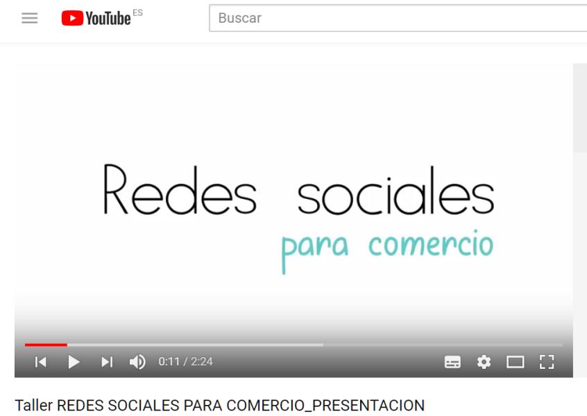 Talleres Online sobre Redes Sociales para Comercio
